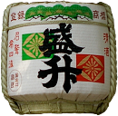 A cask of sake (rice wine) in a shrine