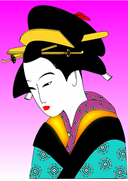 A woman with a formal Japanese hairstyle